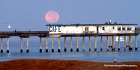 SUPERMOON SETTING @ Ocean Beach Pier 8-29-15