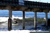 SATURDAY'S OB PIER SURF and SHOOTING THE PIER 1-28-17