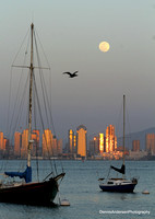MOONRISE OVER SAN DIEGO BAY 3-15-14