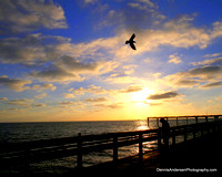 SUNSET ON THE OCEAN BEACH PIER 9-04-14