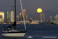HARVEST MOON RISING OVER SAN DIEGO BAY 9-16-16