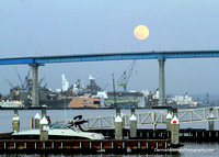 FULL FLOWER MOONRISE @ Coronado Bay Bridge 5-24-13
