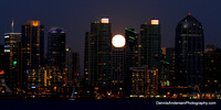 SUPERMOON RISING OVER SAN DIEGO BAY 7-12-14