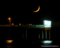 MOONSET OVER THE OB PIER 10-07-13