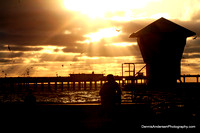 SUNSET AT THE OCEAN BEACH PIER 8-05-14