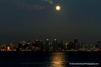 BLUE MOONRISE OVER SAN DIEGO BAY 8-20-13