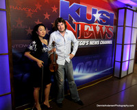CHRIS CARPENTER w/ JAMIE SHADOWLIGHT @ KUSI TV STUDIOS 7-14-13
