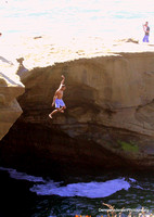 CLIFF JUMPING @ SUNSET CLIFFS 3-08-14